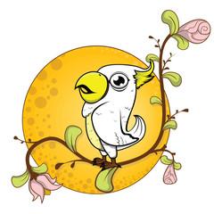 parrot flower background