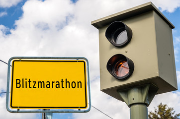 Ortstafel Blitzmarathon