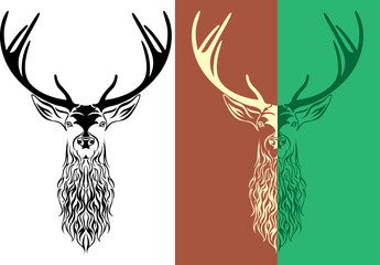 tattoo deer logotype