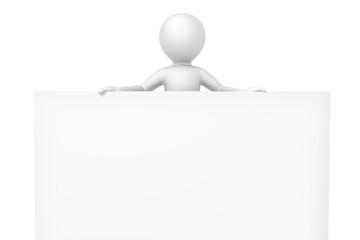 3d man white board