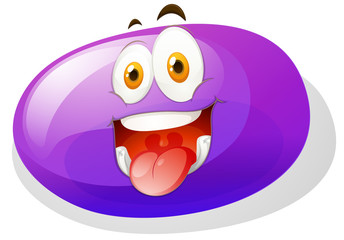 Purple slime with funny face