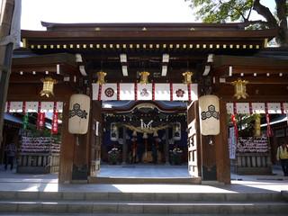 Gate and Shrine of Kushida in Fukuoka, Japan