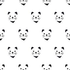 seamless cute kitten pattern