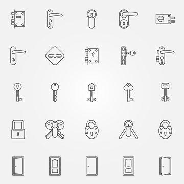 Door lock icons