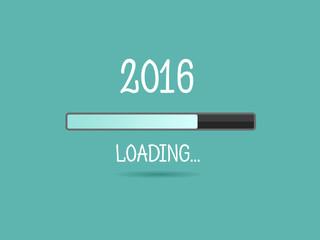 2016 loading. Progress bar.
