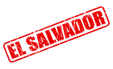 El Salvador red stamp text