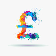 Pound sterling (GBP). Great Britain Pound sign