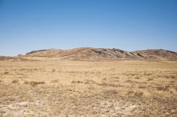 Landscape of the rock under the blue sky