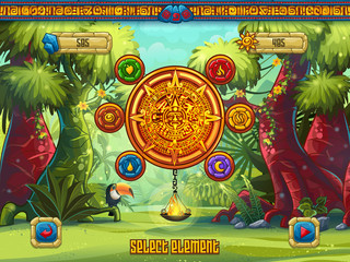 Window select the elements to a computer game Jungle Treasures