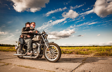 Fototapete - Bikers on the road