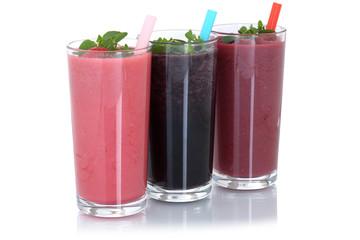 Smoothie Saft mit Früchte Milchshake Fruchtsaft Freisteller