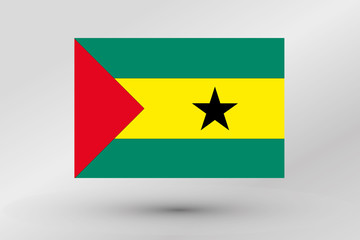 Flag Illustration of the country of  Sao Tome E Principe