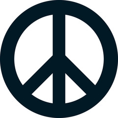 Vector peace symbol isolated on white background