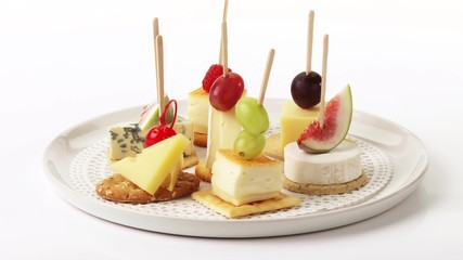 Search photos cheese kebabs for Canape cocktail sticks