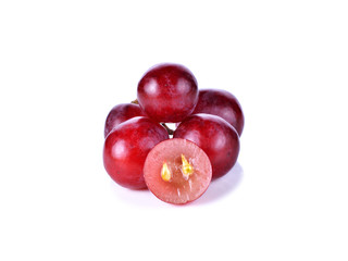 red grape isolated on white background Fototapete