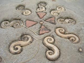 Stones Art on Ground