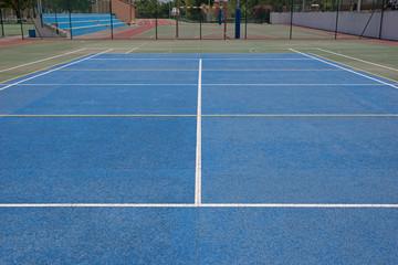 Blaues Spielfeld