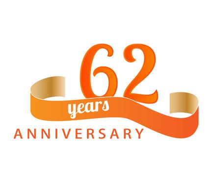 62 year anniversary logo