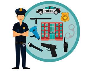 Policeman and police icons