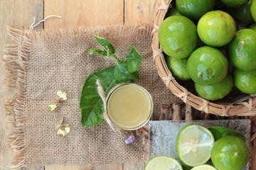 lemon juice and fresh lemon.