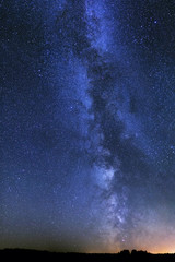 The Milky Way stars night landscape