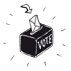 Hand drawn vote box