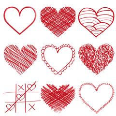 Fototapeta rysowane, malowane serca, serce obraz