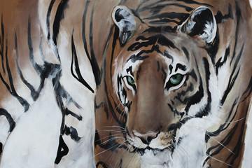 Tiger gemalt