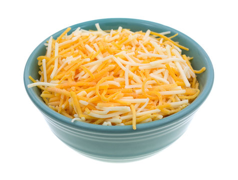 Variety of cheeses in a small bowl