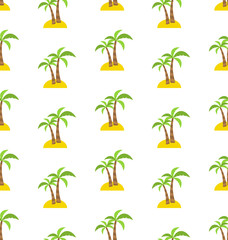 Abstract Seamless Pattern with Tropical Palm Trees. Summer Backg