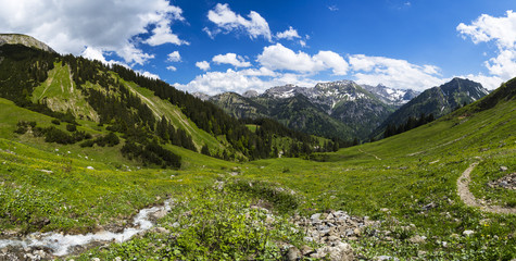 Germany,Bavaria,View of Allgaeu High Alps