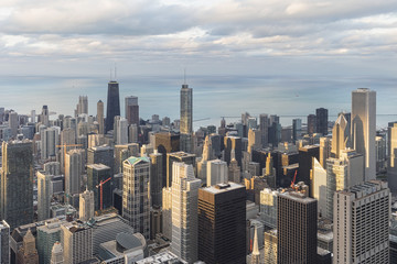 USA,Illinois,Chicago,View from Willis tower over chicago