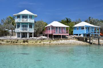 Wall Mural - Staniel Cay yacht club. Exumas, Bahamas