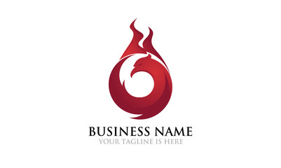 Hot Fire of Phoenix Bird Logo