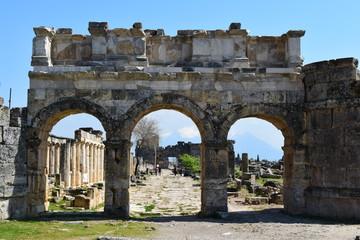 Entrada para antiga cidade de Hireápolis