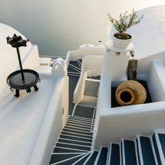 Stairs on Santorini Island Greece - fototapety na wymiar