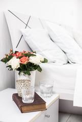 cozy home white bedroom