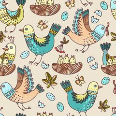 Birds and chicks
