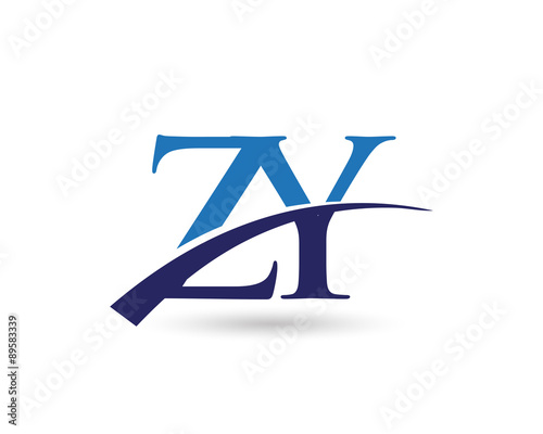 """ZY Logo Letter Swoosh"""" Stock i..."""