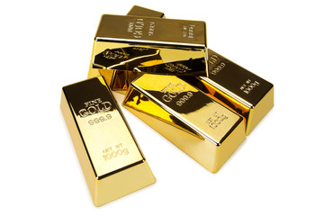 Gold bars and Financial concept, studio shots
