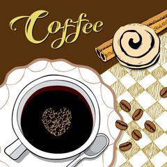 Coffee break, Vector Illustration
