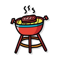BBQ color doodle