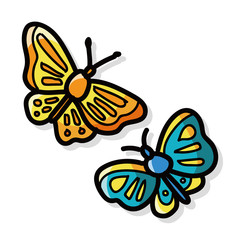butterfly color doodle