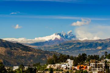 Cotopaxi volcano eruption in Ecuador, South America