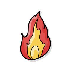 fire color doodle
