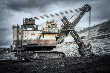 Excavators in coal mines