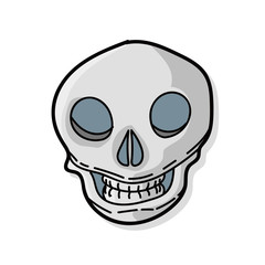 skull color doodle