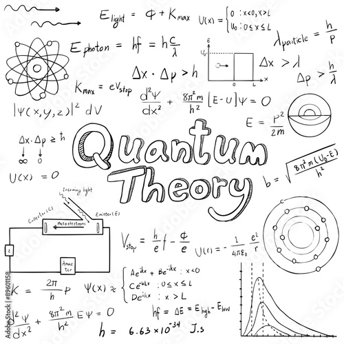 Quantum Theory Law And Physics Mathematical Formula Equation Doodle