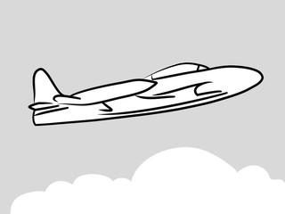 Aircraft model logo T-33 Shooting Star (vector illustration)