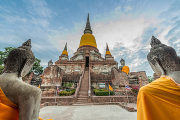 Old temple at Wat Yai Chai Mongkol